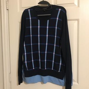 The Limited Navy Striped sweater